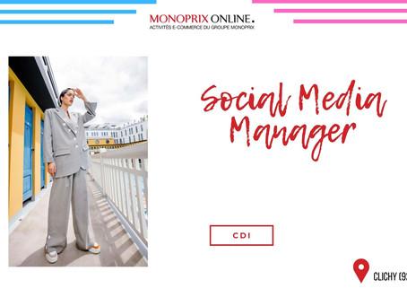 Monoprix Online - Social Media Manager ( CDI)