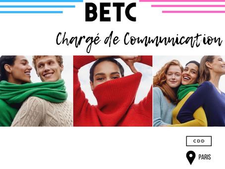 BETC - Chargé de Communication (CDD)