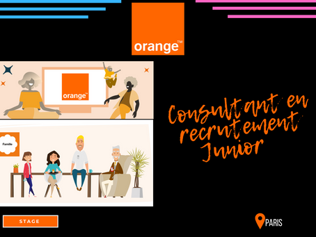 Orange - Consultant en Recrutement Junior (Stage)