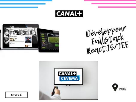 Canal + - Développeur Fullstack ReactJS/JEE  - (stage)