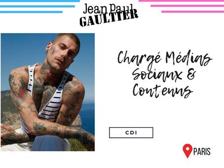 Jean Paul Gautier - Chargé Médias Sociaux & Contenus (CDI)