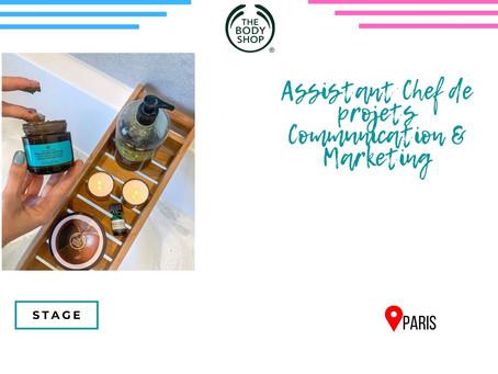 The Body Shop - Assistant Chef de projets Communication & Marketing (Stage)