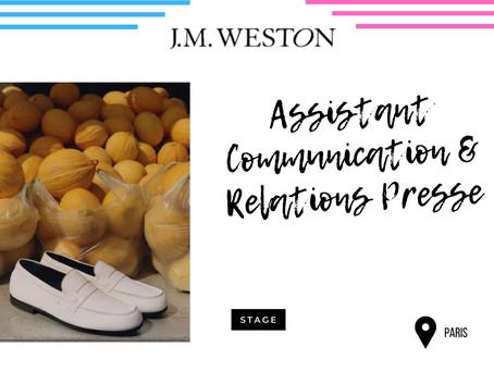 JM. Weston - Assistant Communication & Relations Presse (Stage)