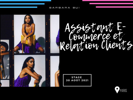 Barbara Bui - Assistant E-Commerce et Relation Clients (Stage)