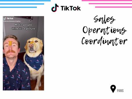 TikTok - Sales Operations Coordinator