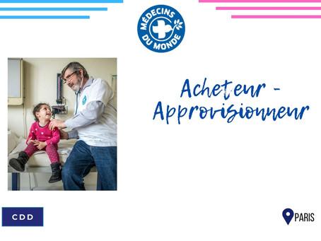 Médecin du Monde -  Acheteur - Approvisionneur (CDD)