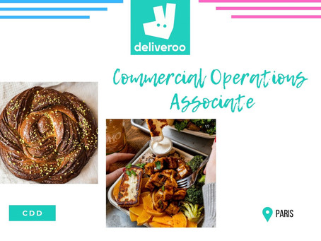 Deliveroo - Commercial Operations Associate (CDD)