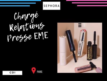 Séphora - Chargé Relations Presse EME (CDI)