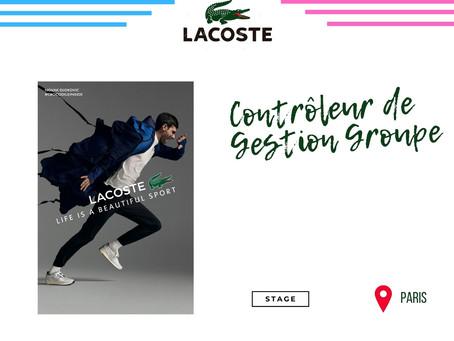 Lacoste - Contrôleur de Gestion Groupe (Stage)