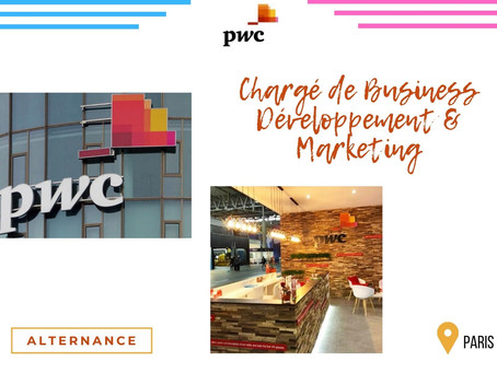 PWC - Chargé de Business Développement & Marketing (Alternance)