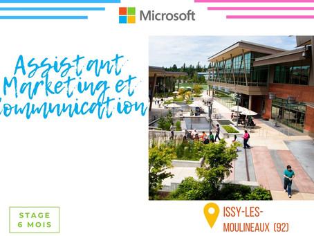 Microsoft - Assistant marketing et communication (Stage)