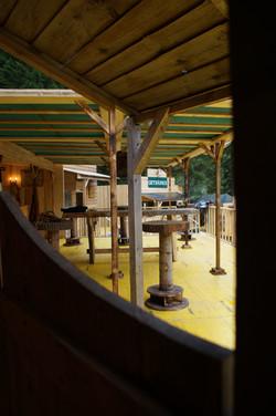 Blick aus dem Saloon