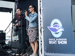Who's on 'Sunseeker Sessions' stage at the Poole Harbour Boat Show?