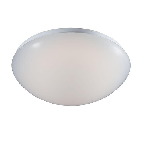 Commercial Electric Low-Profile White LED Round Puff