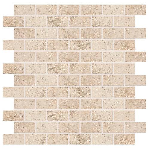 Daltile - Briton Bone 12 in. x 12 in. x 8 mm Ceramic Mosaic Floor and Wall Tile