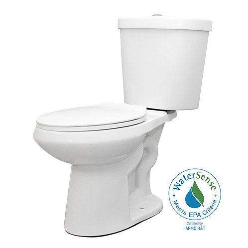 Glacier Bay 2-piece 1.1 GPF/1.6 GPF High Efficiency Dual Flush Complete Elongate