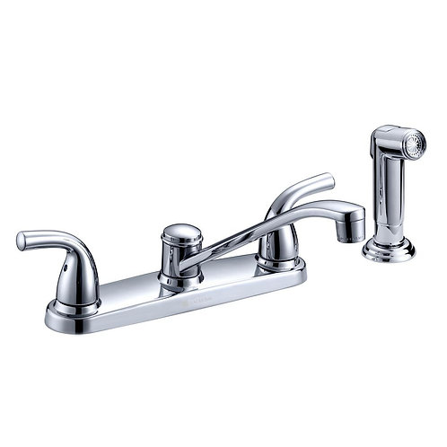 Glacier Bay Builders 2-Handle Standard Kitchen Faucet with Side Sprayer and Deck