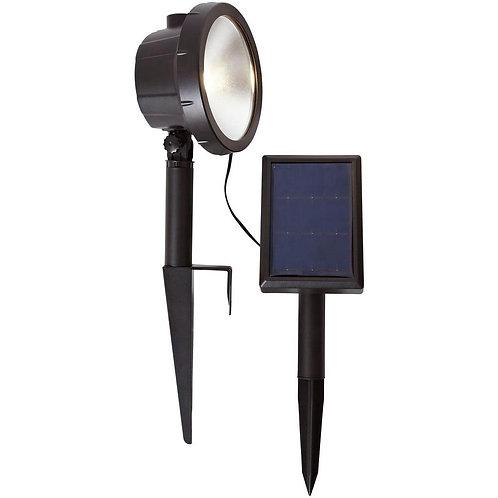 Hampton Bay Solar Black Outdoor Integrated LED 3000K 75-Lumens Wall Wash Landsca