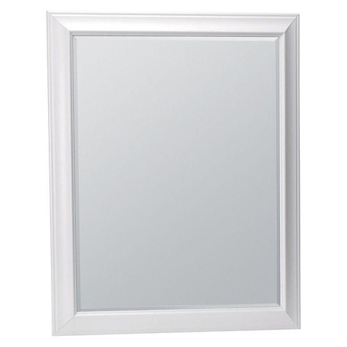 Hampton 29 in. x 35 in. Framed Vanity Mirror in White