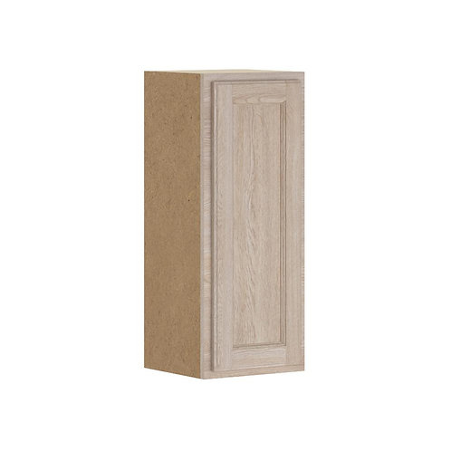 HB Stratford Assembled 12x30x12 in. Wall Cabinet in Unfinished Oak