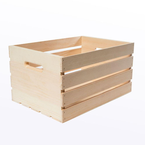 Crates and Pallet 18 in. x 12.5 in. x 9.5 in. Large Wood Crate