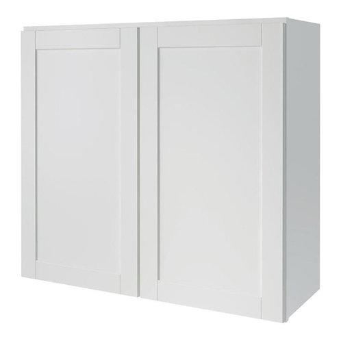 Diamond NOW Arcadia 33-in W x 30-in H x 12-in D White Shaker Door Wall Cabinet