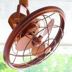 HDC Bentley II 18 in. Indoor-Outdoor Weathered Copper Oscillating Ceiling Fan wi