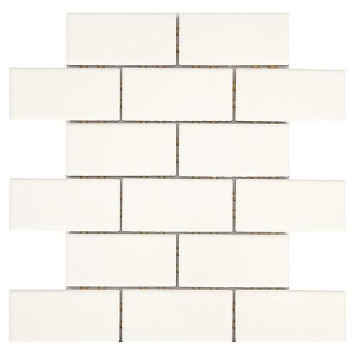 Daltile - Restore Bright White 12 in. x 12 in. x 6.35 mm Ceramic Mosaic Wall Til