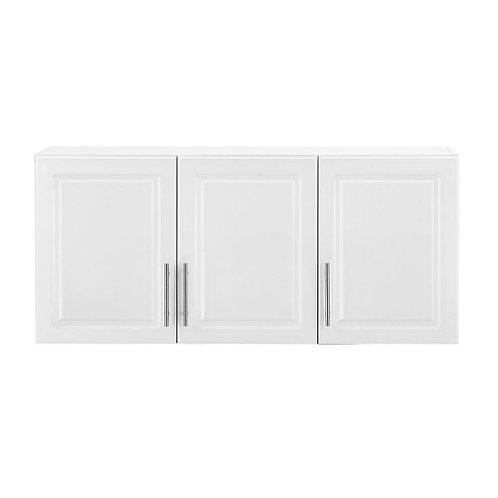 HB 12 in. D x 54 in. W x 24 in. H Select MDF 3-Door Wall Cabinet Wood Closet Sys