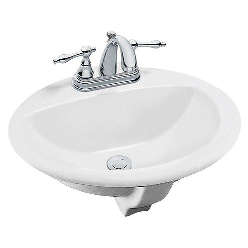 Aragon Self-Rimming Drop-In Bathroom Sink in White