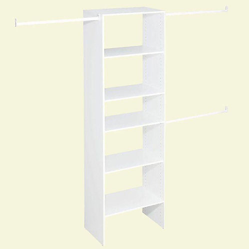 ClosetMaid Selectives 14.5 in. D x 25 in. W x 82.5 in. H White Custom Laminate C