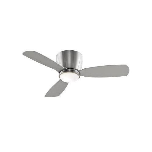 Fanimation Embrace 44-in Brushed Nickel Indoor Flush Mount Ceiling Fan with Ligh