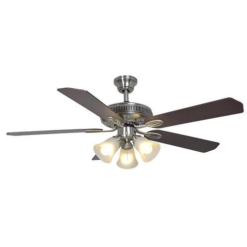 Hampton Bay Glendale 52 in. Indoor Brushed Nickel Ceiling Fan with Light Kit