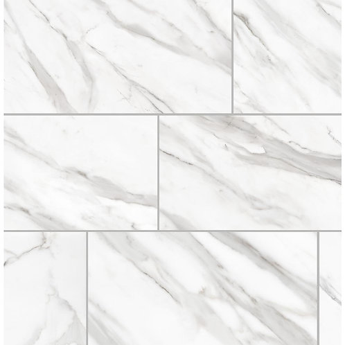 Florida Tile Avante Bianco Marble 12 in. x 24 in. Porcelain Floor and Wall Tile