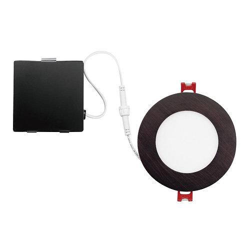 Globe Electric Designer Ultra Slim 4 in. Oil Rubbed Bronze Integrated LED Recess