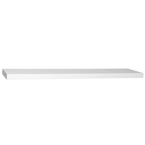 8 in. D x 24 in. L x 1-1/4 in. H Slim Shelf in White