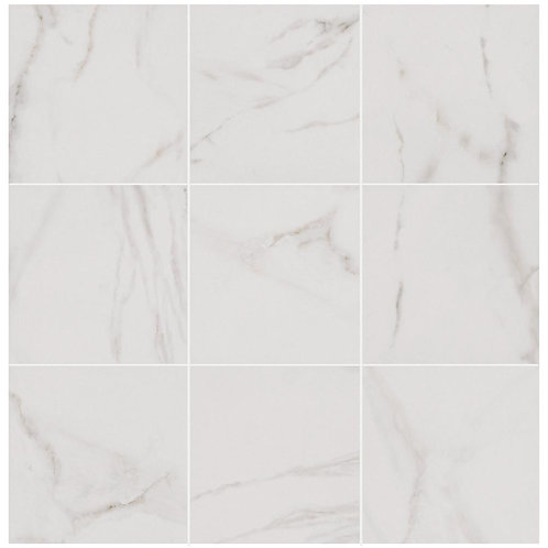 FTHC - Michelangelo White 12 in. x 12 in. Porcelain Floor and Wall Tile