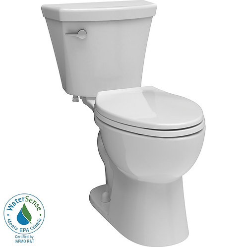 Delta Turner 2-piece 1.28 GPF Elongated Toilet in White