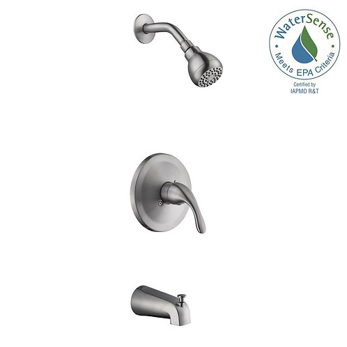 Glacier Bay Builders 1-Handle 1-Spray Tub and Shower Faucet in Brushed Nickel