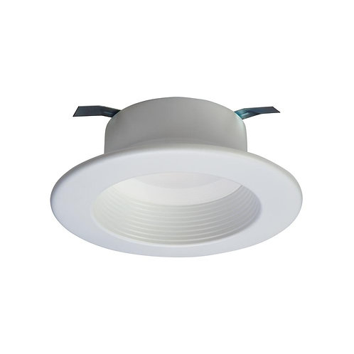 HALO RL 4 in. White Integrated LED Recessed Ceiling Light Fixture Retrofit Baffl