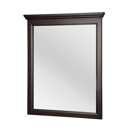 Foremost Teagen 34 in. L x 29 in. W Framed Wall Mirror in Dark Espresso