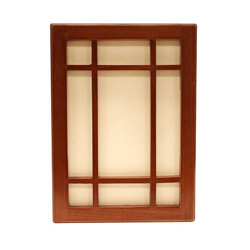 HB Wireless or Wired Door Bell, Craftsman Style Medium Cherry Wood