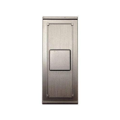 HB Wireless Door Bell Push Button, Brushed Nickel