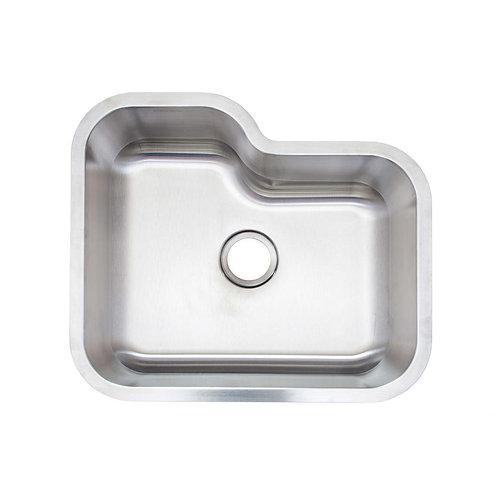Glacier Bay AIO Undermount Stainless Steel 24 in. Single Basin Kitchen Sink