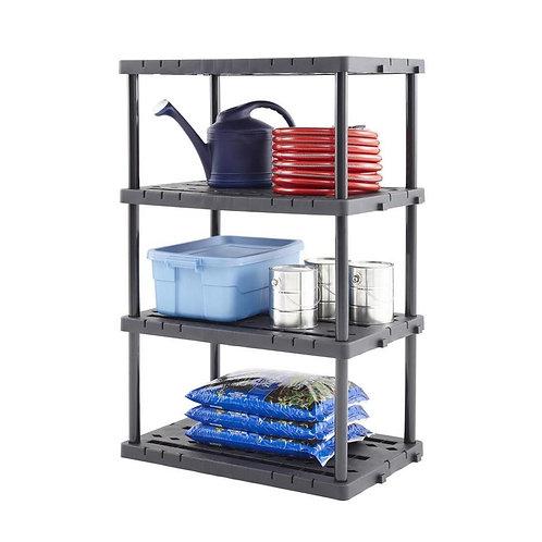 Blue Hawk 56.5-in H x 36-in W x 24-in D 4-Tier Plastic Freestanding Shelving Uni