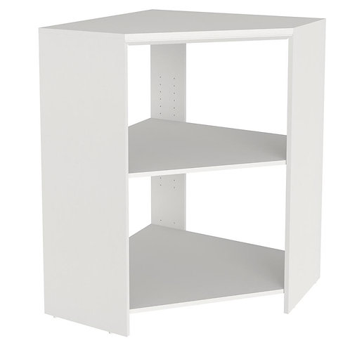 ClosetMaid Impressions 28.7 in. x 28.7 in. x 41.1 in. White Laminate Corner Unit