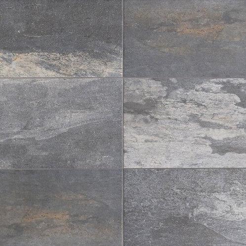 Florida Tile Longitude Slate Grey 12 in. x 24 in. Porcelain Floor and Wall Tile