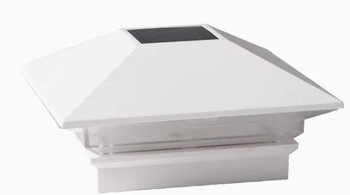 Dekorators 4-in x 4-in Solar VersaCap White Solar LED Plastic Deck Post Cap