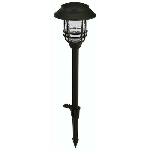 """Hampton Bay """"HB Low-Voltage Black OutdoorLED Mission Style Path Lt with Seeded G"""