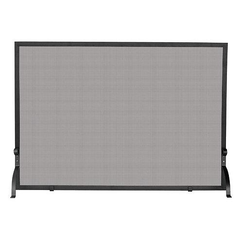 Small Olde World Iron Single-Panel Fireplace Screen